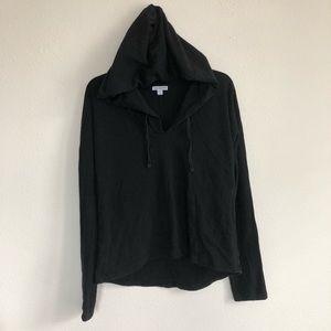 Standard James Perse Crop Black hoodie pullover L